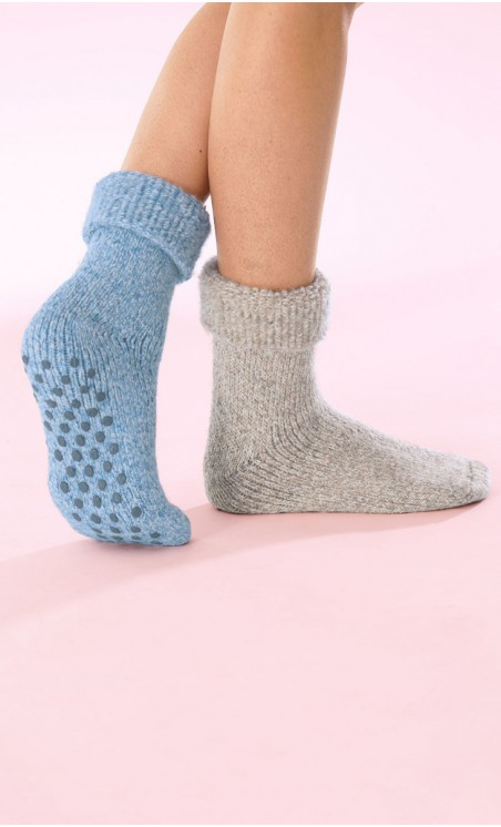 Lot de 2 paires de chaussettes d'intérieur - BASTIEN