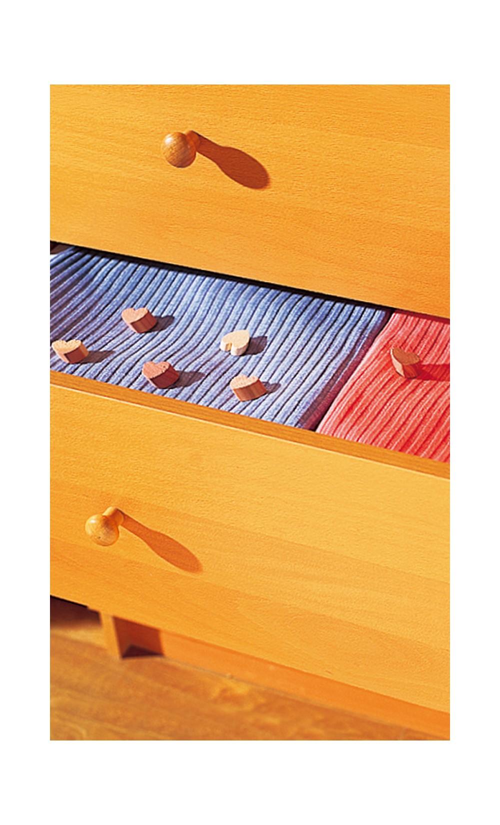 25 petits cœurs en bois de cèdre - GERONA