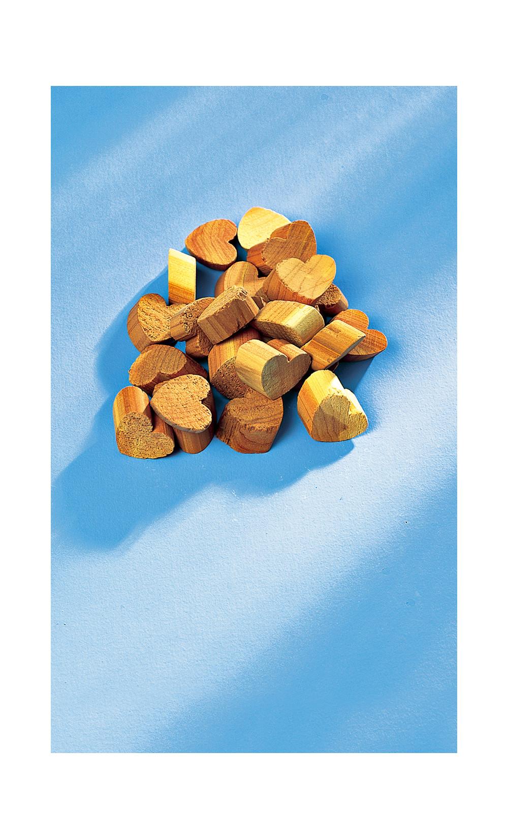 25 cœurs en bois de cèdre - GERONA