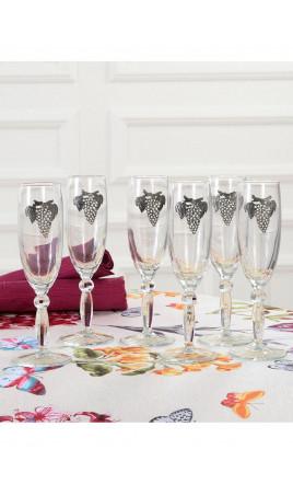 6 flûtes à Champagne - GAYANT